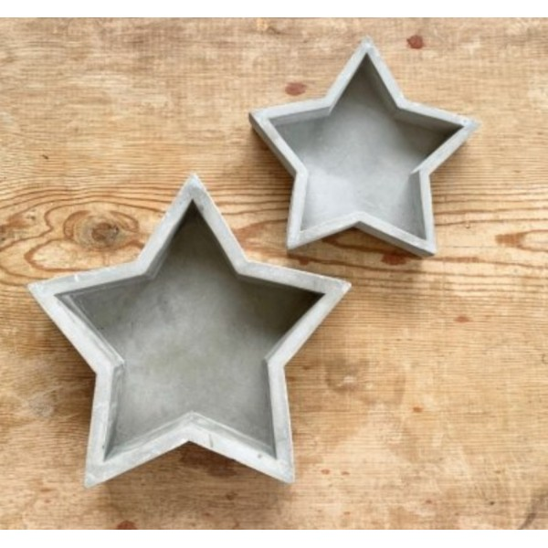 Grey Luxe Star Trays - Set Of Two
