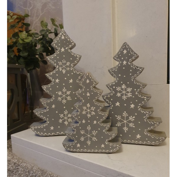 Retreat Chunky Grey Standing Trees - Large