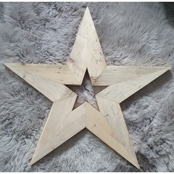 Reclaimed Wooden Star - Large