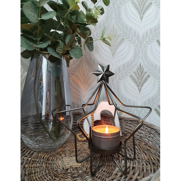 Retreat Black Wire Candle Holder