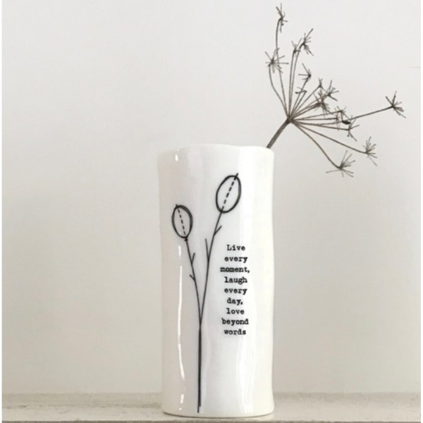 Live Every Moment Vase